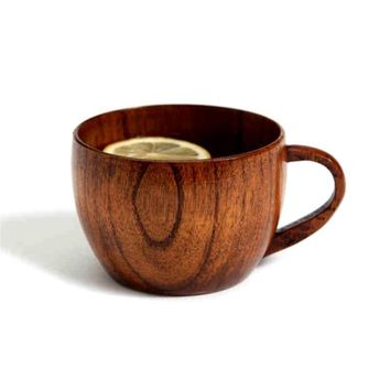 1Pc Wooden Mugs Eco-Friendly Supplies Natural Jujube Bar Cup Mugs With Handgrip Coffee Tea For Travel Wine Beer Milk Mugs #45