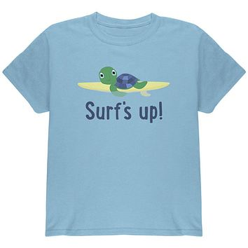 Sea Turtle Surf's Up Summer Cute Youth T Shirt