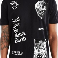 D.U.D.S. Planet Earth Tee- Black