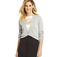 Antonio Melani Pointelle Cardigan - Light Grey