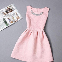 New Summer Dress Fashion Casual Prom Sleeveless Waist Dress Women'S Clothing = 1955583620