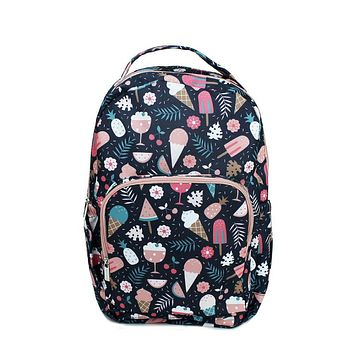 Canvas Backpack | Navy Ice Cream