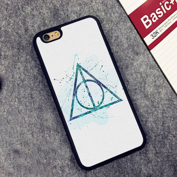 The Deathly Hallows Harry Potter Printed Soft Rubber Phone Cases For iPhone 6 6S Plus 7 7 Plus 5 5S 5C SE 4 4S Back Cover Skin