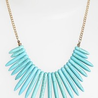 Carole Faux Turquoise Spike Statement Necklace (Juniors) | Nordstrom