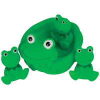 Rubber Frogs Bath Toys 4 Piece Set