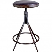 Industrial Iron Drafting Stool | Second Shout Out, Vintage Marketplace