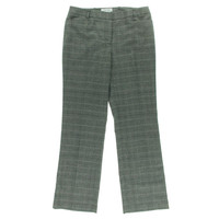 Calvin Klein Womens Petites Plaid Modern Fit Dress Pants