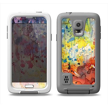 The WaterColor Grunge Setting Samsung Galaxy S5 LifeProof Fre Case Skin Set