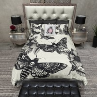 Death Moth and Flower Duvet Bedding Sets