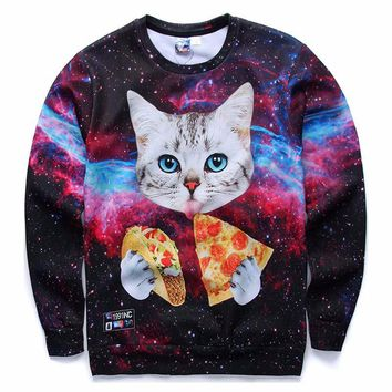 Mr.1991INC Men/Women Hoodies Loose Style Print Animals Cat Panda Rainbow Triangle Cartoon 3d Sweatshirts Plus Size 4XL 5XL