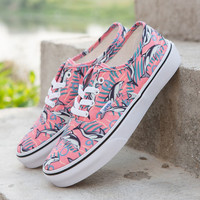 Trendsetter Vans Peanuts Canvas Old Skool Dolphins Print Flats Shoes Sneakers Sport Shoes