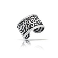 Bling Jewelry Oxidized Celtic Tribal Ear Cuff One Piece 925 Sterling Silver