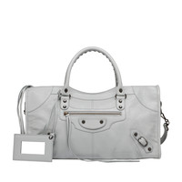 Balenciaga Classic Part Time Gris Glacé - Women's Top Handle Bag