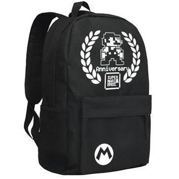Boys bookbag trendy Zshop Classical Computer Game Super Mario Backpack for Boys and Girls  AT_51_3