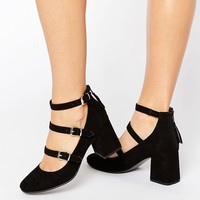 Office Marty Multi Strap Mid Heeled Shoes