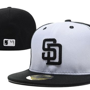 ESBON San Diego Padres New Era 59FIFTY MLB Hat Black-White