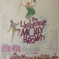 60s Vintage Ad / Debbie Reynolds / The Unsinkable Molly Brown / Hollywood Stars / Paper Ephemera / Ready To Frame / Molly-Palooza