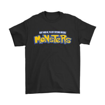 AUGUAU Don't Mind Me I'm Just Catching Invisible Monster Pokemon Shirts