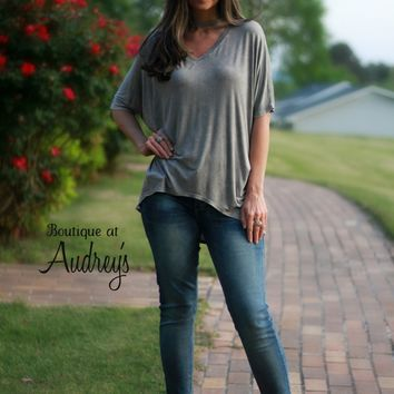 Jodifl Stone Mineral Wash Top with Choker Neckline