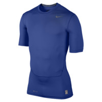Nike Pro Core Compression Half-Sleeve Men's Shirt Size Large (Blue)