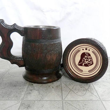 Star Wars Wooden Beer Mug 0.7l(23oz) Groomsmen gift ideas Gift Men Gifts for Dad Valentines gifts for him Gifts for Groom