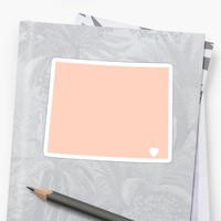 'Wyoming Peach' Sticker by Maren Misner