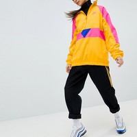 Nike Vaporwave Half Zip Track Jacket In Yellow With Colour Block at asos.com