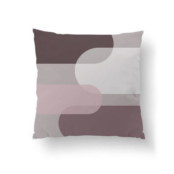 Simple Decor, Decorative Pillow, Geometric Textures, Throw Pillow, Brown Purple, Textured Pattern, Home Decor, Cushion Cover, Watercolor Art