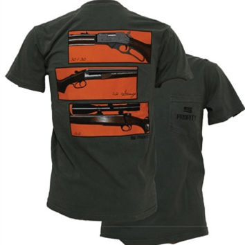 Southern Couture High Priority Triple Gun 12 Guage 22 30/30 Hunt Country Pocket Unisex Bright T Shirt