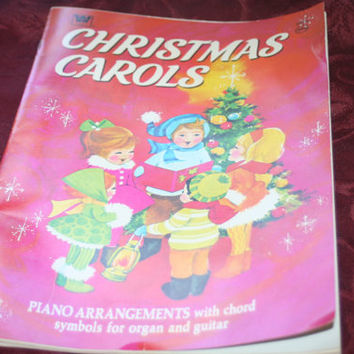 Whitman 1957 Christmas Carols Book
