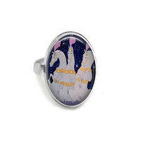 Magical Horses Adjustable Ring