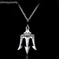 Drop shipping a lot Percy Jackson the Olympians The Sea of Percy Jackson necklace Poseidon necklace for men and wonen