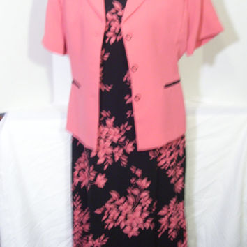 Spring Summer Dress and Jacket Set Size 14 Dressy Wedding Church Ready FREE US SHIPPING