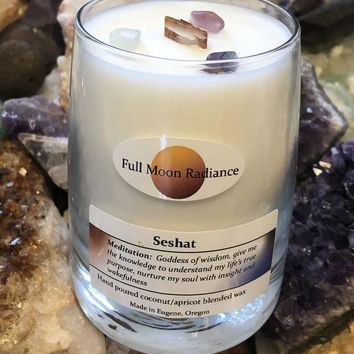 Goddess Ritual Candle:  Seshat, Egyptian Goddess of Wisdom