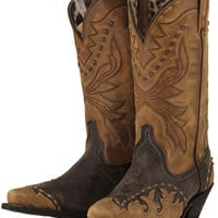 Laredo Ladies Laced Wing Tip Cowgirl Boots