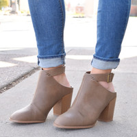 Rosewood Cutout Booties Taupe