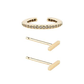 Eternity Cuff and Little Bar Studs