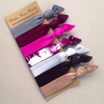 The Malia Collection Hair Ties OR Headbands by Elastic Hair Bandz on Etsy