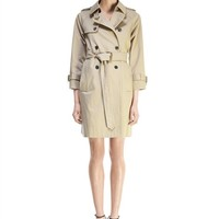 Compact Twill Trench Coat