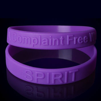 Fashion Silicone wristband A complaint free world Purple bracelet silicone wristband charity power sport wrist loop 2 color