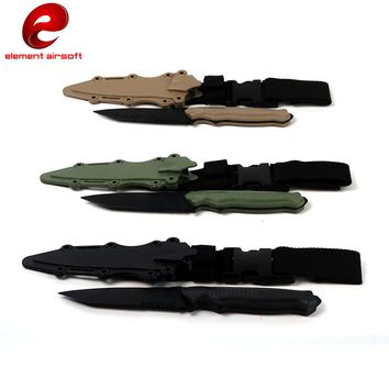 Military Enthusiasts Birthday Gift CS Cosplay Prop Tactical Combat Knife Modeling Rubber Training Sheath Knife Model Toy Sword