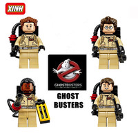 4Pcs/lot Ghostbuster Minifigures Building Blocks Figures Model Bricks Kid Baby Toys Compatible Gift