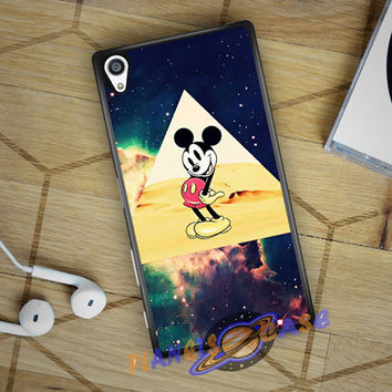 disney Mickey mouse Hipster Triangle Galaxy Sony Xperia Z3 | Z4 case Planetscase.com