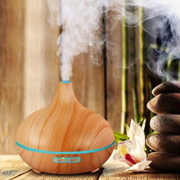 Doterra style Essential Oil Diffuser & Wood Grain Lamp