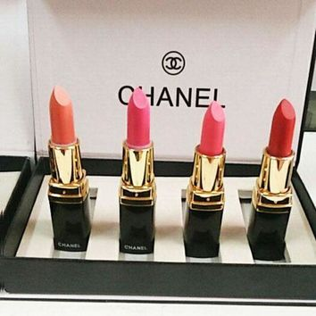 Chanel Lipstick Fashion Four Piece Set + Gilf Box B Yymcz Hzp