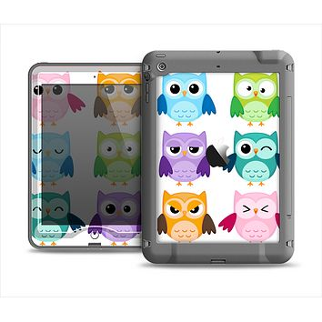 The Emotional Cartoon Owls Apple iPad Mini LifeProof Nuud Case Skin Set