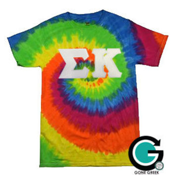 custom tie dye t shirt with from gonegreeketsy on etsy