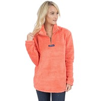 Linden Sherpa Pullover in Coral by Lauren James - FINAL SALE