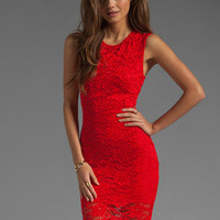 Donna Mizani Passion Lace Dress in Red from REVOLVEclothing.com