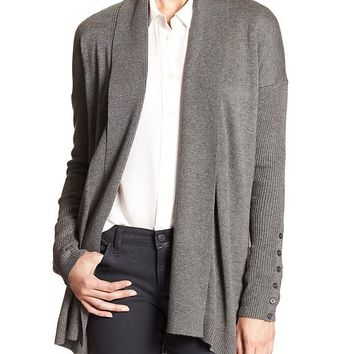 Banana Republic Womens Factory Button Sleeve Cardigan